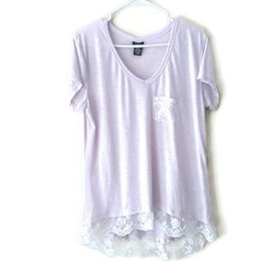Rue21 Purple Lace Lined High Low Top Size XL